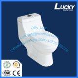 Le trou bon marché de sortie de 4 pouces lavent vers le bas la toilette sanitaire d'une seule pièce d'articles