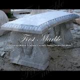 정원 훈장 Mbt 1153를 위한 Carrara 백색 벤치 & 테이블