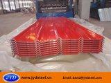 Hoja de acero galvanizada color acanalado de la azotea