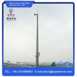 Torre Telecom del solo tubo de acero galvanizada