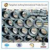 Alambre exhausto, tipo del alambre de acero de carbón, alambre de acero Rod de 5.5m m