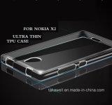 Случай крышки вспомогательного оборудования Nokia X2 аргументы за сотового телефона высокого качества прозрачный мягкий TPU передвижной