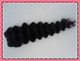 Onda profunda 18 da cor natural brasileira não processada quente do cabelo Curly da extensão do cabelo do Virgin da venda