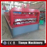 Roulis chaud de panneau de toit en métal de consommation d'énergie inférieure de vente formant la machine