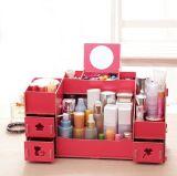 Grande casella di memoria da tavolino di nuovo stile, casella di memoria cosmetica di DIY