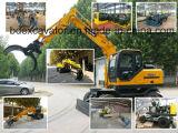 8 excavadores de la rueda con Graspping para la caña de azúcar/la madera/la paja/la hierba
