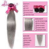 Волос девственницы верхнего качества волосы Ombre 1b/Grey малайзийских Weft