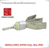 Farol do diodo emissor de luz com a microplaqueta 4800lm do CREE Xhp-50