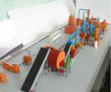Haute performance Tyre/Tire Shredder Machine pour Used Tires