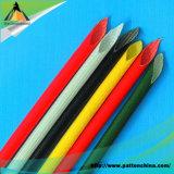 Sleeving macio da fibra de vidro da borracha de silicone de RoHS