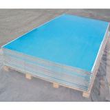 1050, 1100, 3003, 5052, 6063, folha do alumínio 6061 com película Coted do PVC