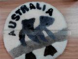 Australische Andenkenrundes Lambskin-Kissen mit Koala-Muster