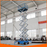 Scissor hydraulische elektrische selbstangetriebene 10m Aufzug