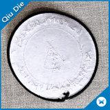 Эллиптическим форменный заплата вышивки фирменного наименования ткани сплетенная значком
