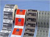Contrassegno autoadesivo del PVC dell'autoadesivo adesivo di carta di Pirnted (Z04)