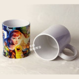 grado 11oz una taza de cerámica del blanco de la taza de la foto