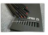 Schwarzer hölzerner Bleistift der Farben-(Farbe)