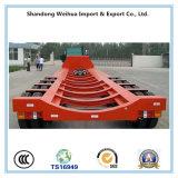 80 Tonnen LKW-Schlussteil Lowbed halb Schlussteil-mit 4 Fuwa Wellen