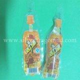 Sac Shaped spécial en plastique de PE clair de qualité pour des boissons