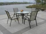 A mobília do aço 5PCS Moder ajustou-se por Table+Chairs
