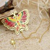 나비 모양 도매를 위한 주문 금속 기념품 북마크