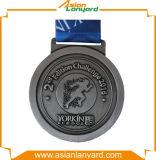 Kundenspezifische Andenken-Medaille des Entwurfs-3D mit Farbband