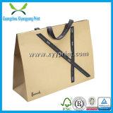 Kundenspezifischer Packpapier-Beutel mit Griff-Großverkauf