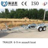 Conjunto de reboque de barco com dois eixos pesados