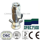 Válvula asséptica sanitária da amostra do aço inoxidável