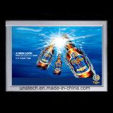 Dos media ultra magros dos anúncios do diodo emissor de luz do frame da pressão do alumínio do brilho elevado caixa leve