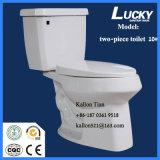 10# séparent/toilette en céramique salle de bains en deux pièces de siphon en articles sanitaires