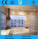 De Satefy bloco de vidro Shaped verde/azul/desobstruído de teste padrão bem/tijolo de vidro/bloco de canto