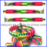Bracelet en nylon tressé de survie de Paracord de corde de 7 faisceaux