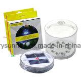 판매를 위한 Inflatale 태양 야영 램프가 옥외 거는 태양 정원에 의하여 점화한다