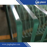 8mm Clear Acid Etch Flat/Bent Tempered/Toughened Glass for Building