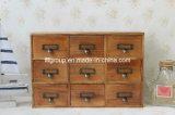 Gabinete de madeira personalizado do vintage estilo francês antigo com gavetas