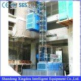 Elevación del alzamiento del edificio del elevador de la construcción/alzamiento de la construcción