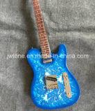 Guitare électrique télé- de corps de plaque de pochoir de Paisley de qualité première