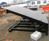 rampa de carregamento hidráulica elétrica do recipiente 10t