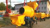 Gute Leistung mit Comptetive Preis-mobiler beweglicher Schlussteil-Dieselbetonpumpe mit Mischer