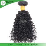 Extensión del pelo humano precio al por mayor 100% del pelo de Remy de la Virgen brasileña