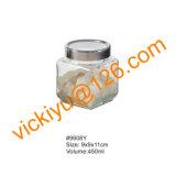 vasi di vetro quadrati dell'alimento 700ml, vasi di vetro di memoria con la protezione