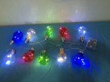 Luzes impermeáveis feericamente da corda com 10 bulbos