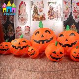 Finego Halloween LED Spiritus-Festival kundenspezifisches aufblasbares Kürbis-Lampen-Dekoration-Licht