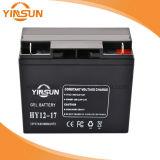 12V 17ah schwarze Solarbatterie für Sonnenkollektor-System