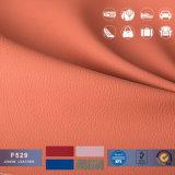couro sintético gravado 1.2mm do PVC dos testes padrões de Lichi para sacos e sofá