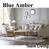 Софа мебели голубой янтарной серии классицистическая домашняя