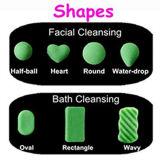 A esponja Konjac natural da venda por atacado 100% para o pedido facial da quantidade pequena de cuidado de pele da limpeza & a etiqueta personalizada permitem