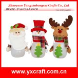 Manera de la Navidad del tarro del caramelo de la Navidad del reno de la Navidad de la decoración de la decoración de la Navidad (ZY16Y163-1-2-3 los 46CM)