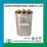 Caixa oval do metal do capacitor Cbb65 Running para o compressor Capacitores do congelador